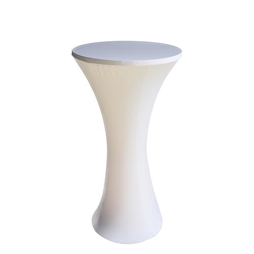 BT-016W 白色弹力布套鸡尾酒桌
