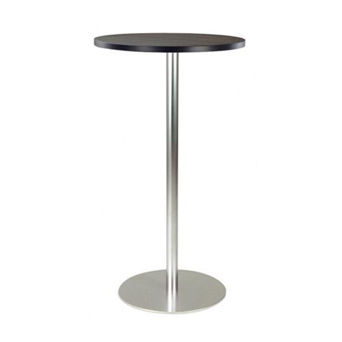 BT-03B 黑色面银色喷涂腿吧桌