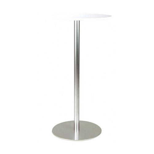 BT-03W 白色面银色喷涂腿吧桌