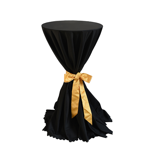 BT-035B 黑色平纹布套鸡尾酒桌