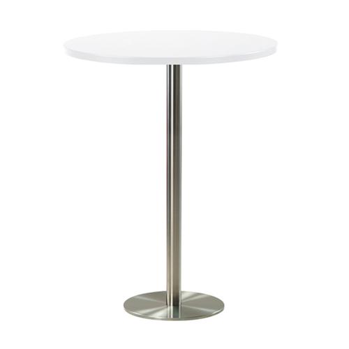 BT-09W 白色不锈钢底圆吧桌