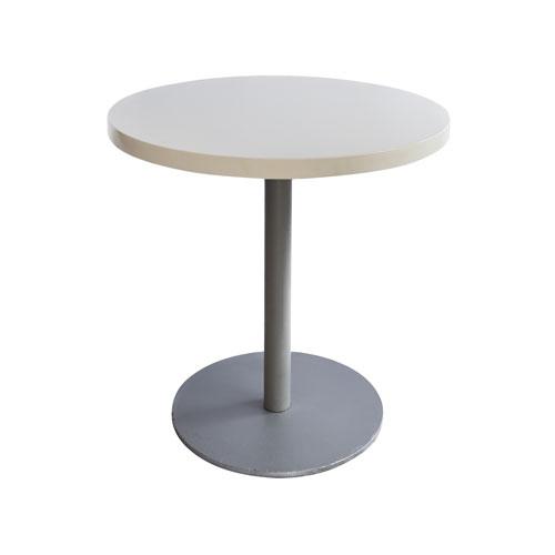 MT-03W 银色喷涂腿圆洽谈桌(白色面)