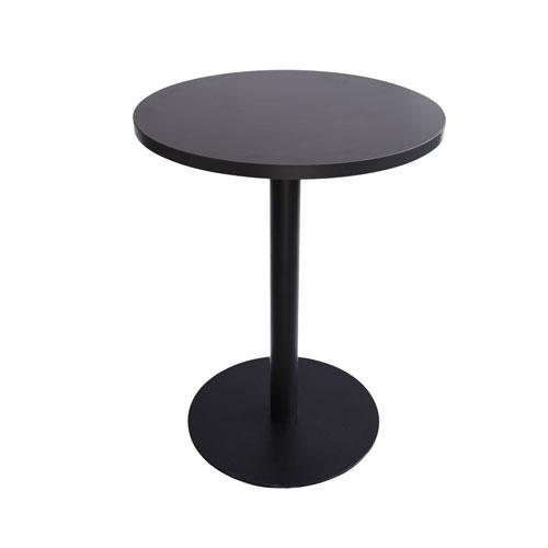 MT-04B 黑色喷涂腿圆洽谈桌(黑色面)