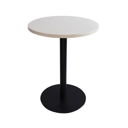 MT-04W 黑色喷涂腿圆洽谈桌(白色面)