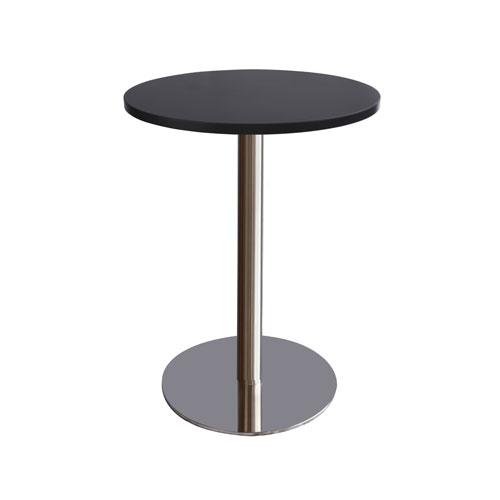 MT-07B 不锈钢圆盘圆面洽谈桌(黑色面)