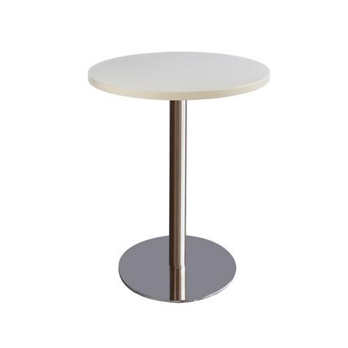 MT-07W 不锈钢圆盘圆面洽谈桌(白色面)