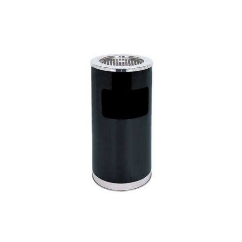 M-AS-01B 黑色不锈钢带烟灰缸垃圾桶