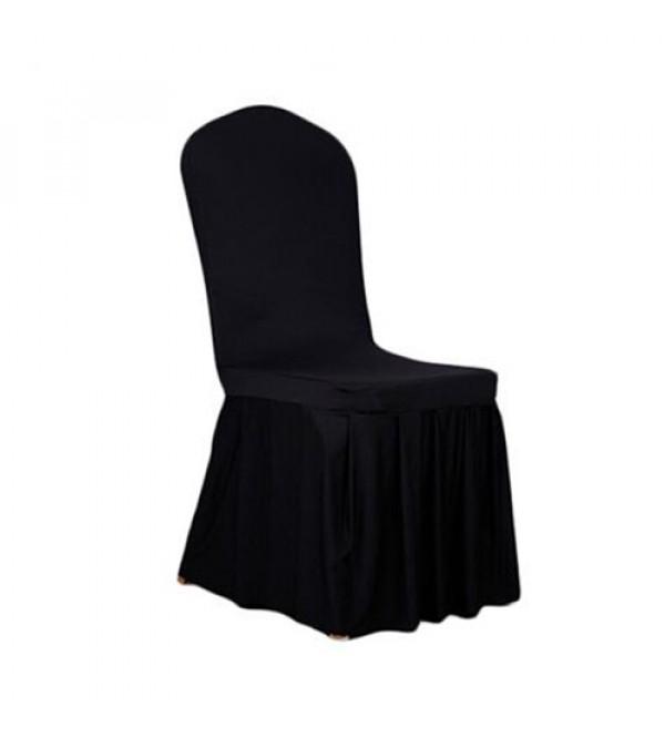 SC-011B 黑色褶皱布套餐椅