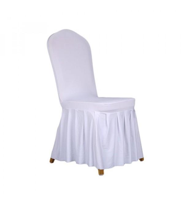 SC-011W 白色褶皱布套餐椅