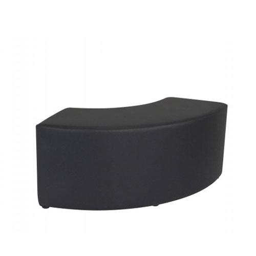 SF-011B 黑色弧形沙发凳