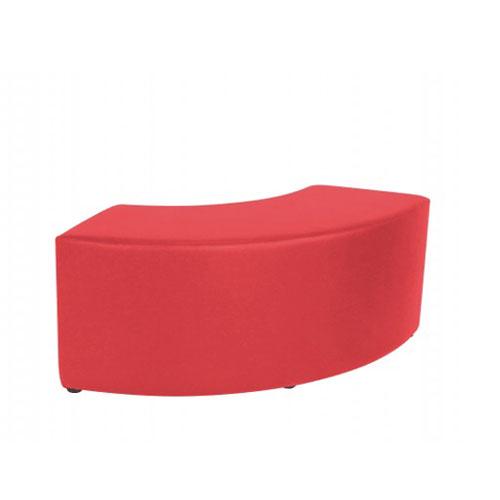 SF-011R 红色弧形沙发凳