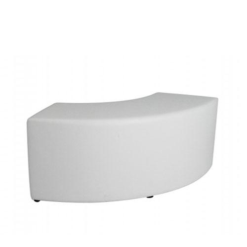 SF-011W 白色弧形沙发凳