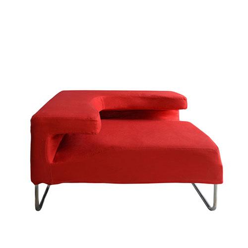 SF-055R 红色折角沙发-拐角