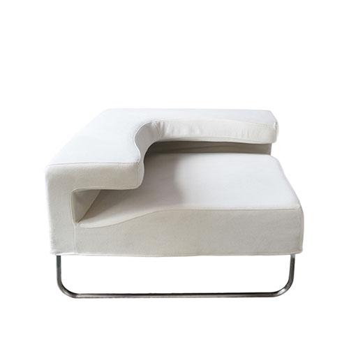 SF-055W 白色折角沙发-拐角