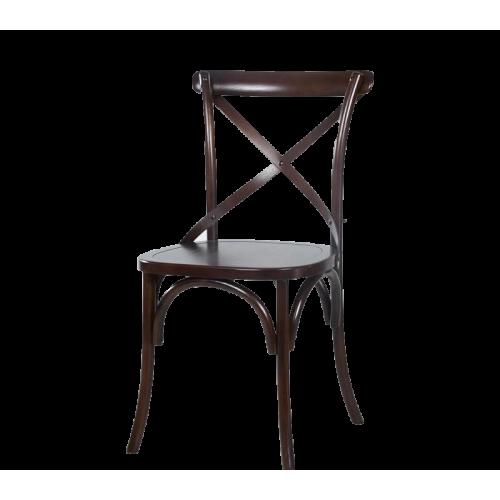 美式乡村实木椅子 | 餐椅复古咖啡厅靠背椅  SC-109BB 黑胡桃色