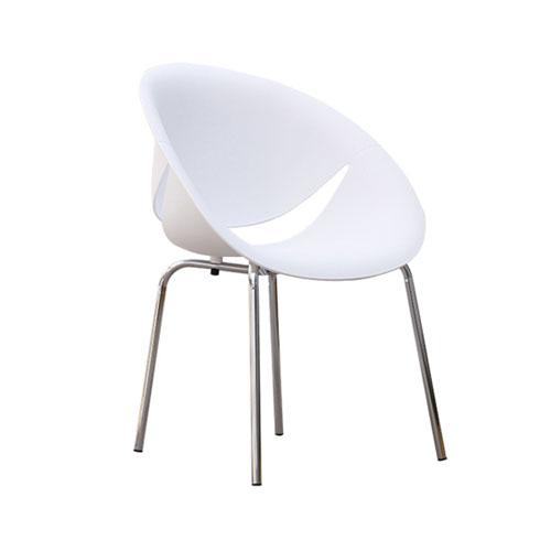 SC-036W 白色笑脸椅
