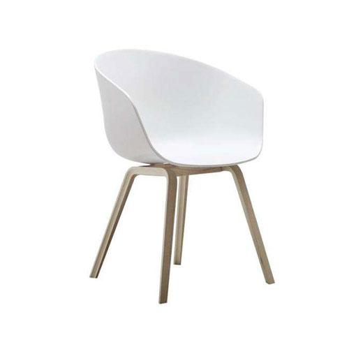 SC-043W 白色现代塑木椅