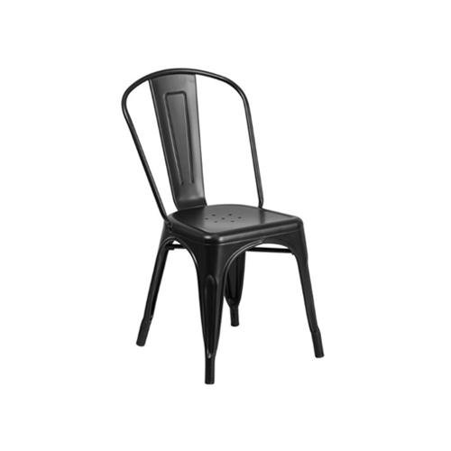 SC-092B 黑色铁艺餐椅