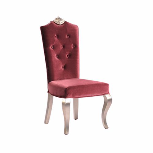 SC-101R 红色软包复古餐椅
