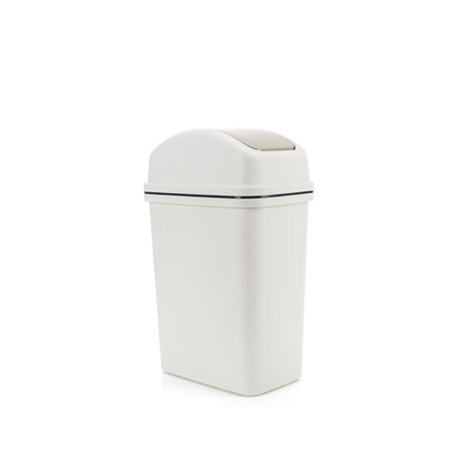 M-TB-01W 摇盖塑料垃圾桶