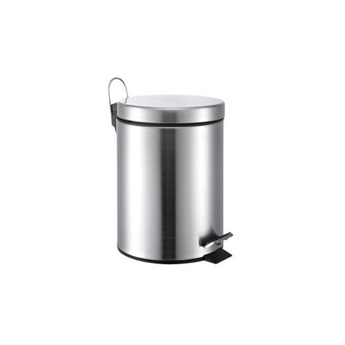 M-TB-07S 8L银色翻盖垃圾桶