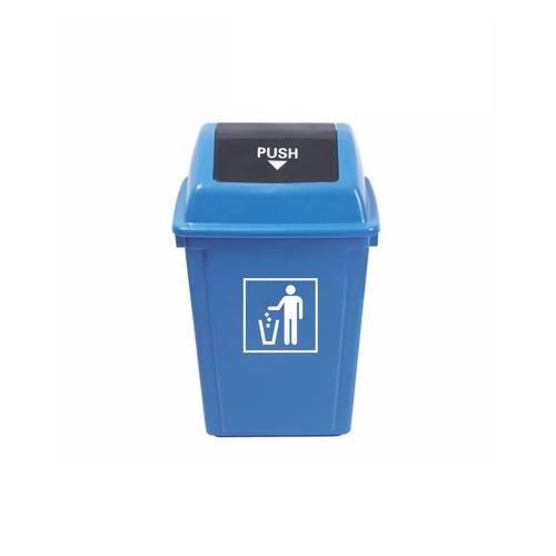 M-TB-08BL 60L蓝色摇盖垃圾桶