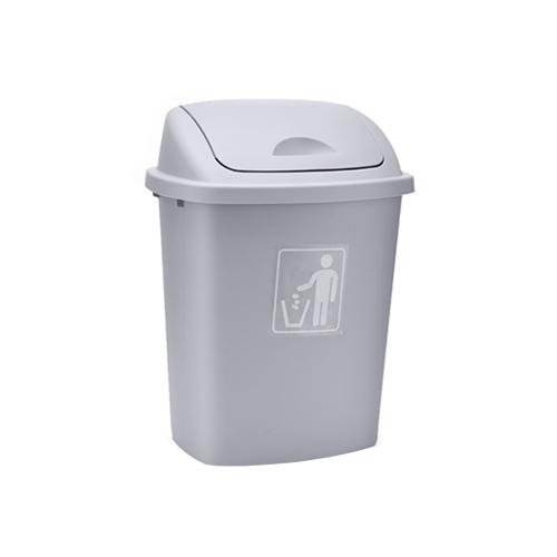M-TB-09GY 65L灰色摇盖垃圾桶
